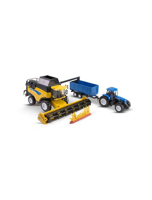 Picture of CR9090 combine harvester+T7000 FW tractor, 1:32