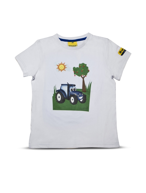 Picture of T-shirt, kids, T, white