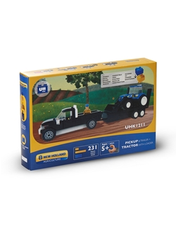 Picture of PICK UP+TRAILER+TRACTOR, BRICKS (231PC)