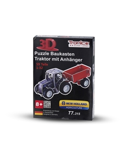 Picture of 3d PuzzleTractor, T7.315 with trailer