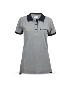 Picture of WOMEN'S GREY CONTRAST POLO SHIRT